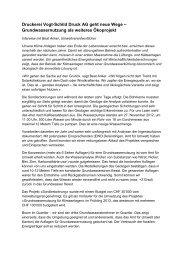 Grundwassernutzung als weiteres Ökoprojekt - Vogt-Schild Druck AG