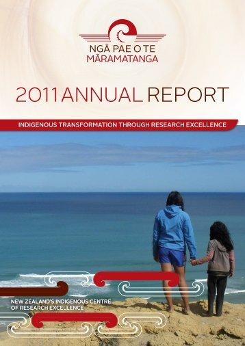 ANNUAL REPORT - Ngā Pae o te Māramatanga