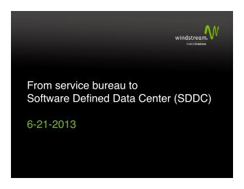 From Service Bureau to Software Defined Data Center ... - AIKCU.org
