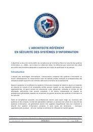Référentiel - Agence nationale de la sécurité des systèmes d ...