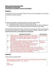 Examen de Programación (13294) Convocatoria de Junio 2006 ...