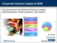 Corporate Venture Capital at DSM