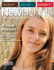 Download the latest edition of New Heights - Youth Villages