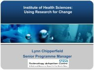 Click to add title - Institute of Health Sciences