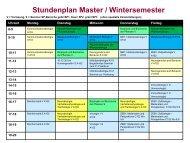 Stundenplan Master / Wintersemester - Biostudium.uni-wuerzburg.de