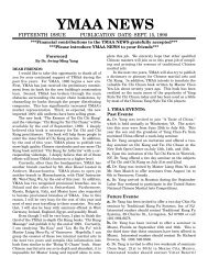 YMAA News #15, September 1990 (162Kb)