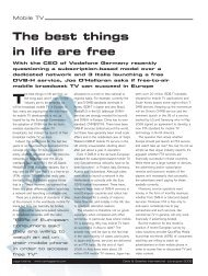 The best things in life are free - CSI Magazine