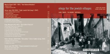 elegy for the jewish villages - Vladimir Stoupel