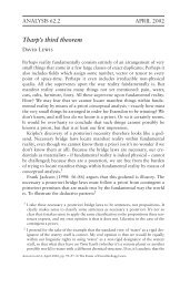 Tharp's third theorem - Andrew M. Bailey