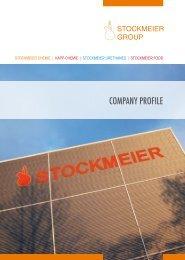 COMPANY PROFILE - Stockmeier Holding GmbH