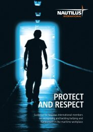 Protect and Respect pack - anti-bullying guide - Nautilus International