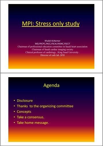 MPI: Stress only study