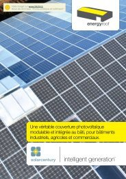 Une véritable couverture photovoltaïque modulable et ... - TALEV