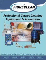 Canada's Largest Supplier To The Carpet Cleaning - Fibreclean