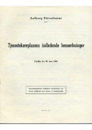 Tjenesteknreplanens indledende bemærkninger - Jernbanearkivalier