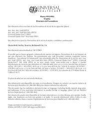 Planes PFFS/PPO Virginia Directorio de Proveedores Este directorio ...