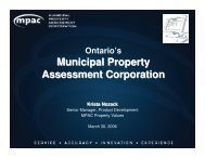 Municipal Property Assessment Corporation - Lincoln Institute of ...