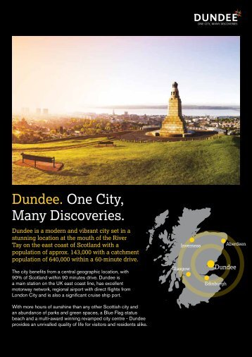 Dundee. One City, Many Discoveries. - Locate Dundee