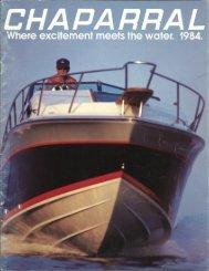 1984 Chaparral Boats Brochure