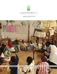 2010 AKF USA Annual Report - Aga Khan Development Network