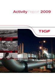Activity Report 2009 - Tigf