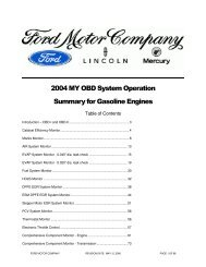 2004 MY OBD System Operation Summary for Gasoline Engines