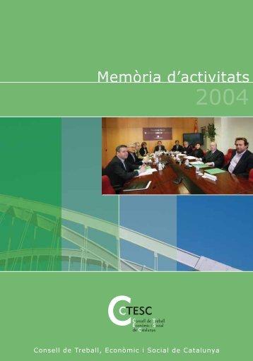 Memòria d'activitats 2004 - ctesc