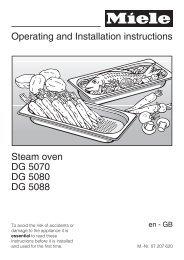 Instruction Manual (PDF) - Miele