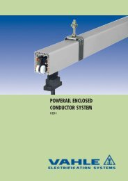 POWERAIL ENCLOSED CONDUCTOR SYSTEM - VAHLE, Inc