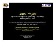 CRIA Project - University of Colorado at Boulder