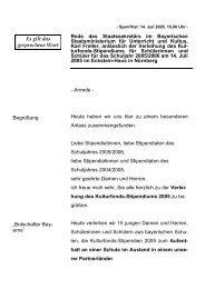 Rede anlässlich der Verleihung des Kulturfonds ... - Freller, Karl
