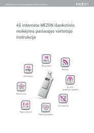 vartotojo instrukcijoje - MEZON