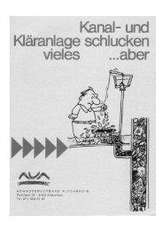 Kläranlagen schlucken vieles, aber - AVA-Altenrhein