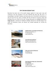 TOP TEN BCN DESIGN TOUR - Turisme de Barcelona