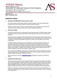 AIS News No 113 - Association of Independent Schools of SA