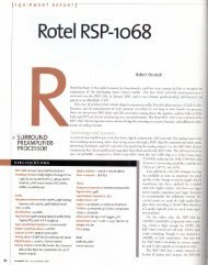 Rotel RSP-1068 - Reference Audio