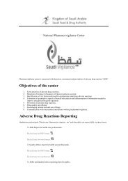 Objectives of the center Adverse Drug Reactions Reporting