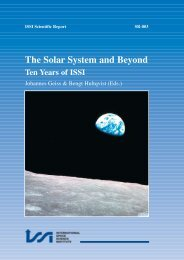 The Solar System and Beyond: Ten Years of - ISSI