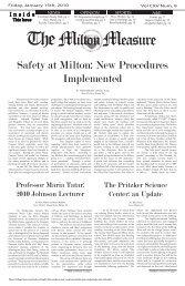 The Milton Measure - Milton Academy