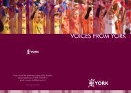 VOICES FROM YORK
