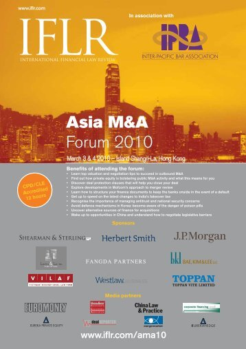 Asia M&A Forum 2010 - IFLR.com