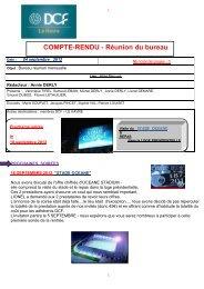 COMPTE-RENDU - Réunion du bureau - DCF