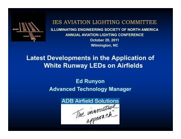 LEDs on Airfields