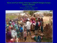 Stove and Fuel Safety Training in UNHCR Refugee Camps Eastern ...
