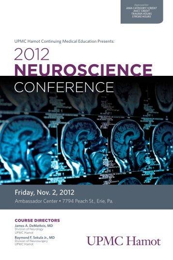 2012 NEUROSCIENCE - CCEHS - UPMC.com