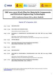 TRP 2011-2013 Work Plan for Material ... - Madrid Network