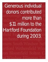Donors - Hartford Foundation for Public Giving