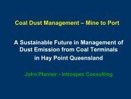 Coal Dust Management Presentation - August 2012