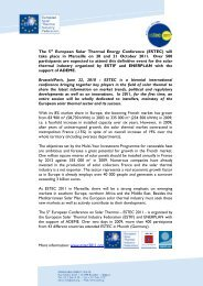 will take place in Marseille on 20 and 21 October 2011 ... - Estec 2011