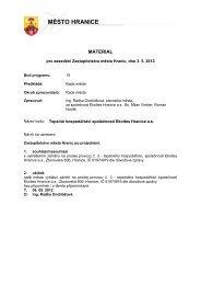 Tepelné hospodářství společnosti Ekoltes Hranice a.s. - Město Hranice
